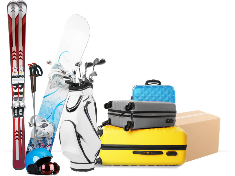 Ship your luggage, golf clubs, skis and more