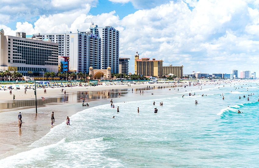 The best beach vacation thats cost effective is to Daytona Beach in Florida