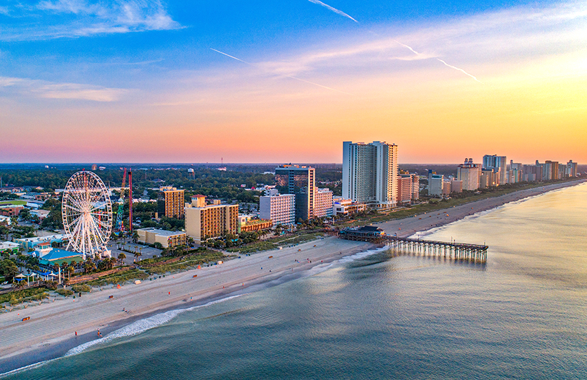 Top American beach destination to visit is Myrtle Beach, South Caorlina