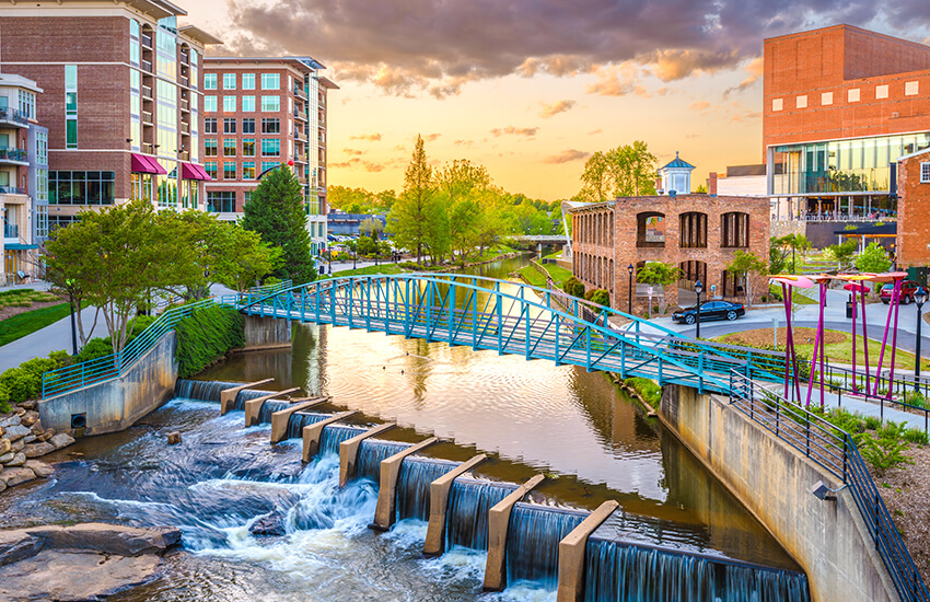 The Labor Day travel spot to visit is Greenville, South Carolina