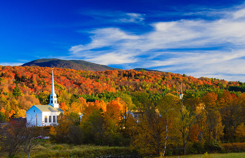 The best fall vacation to take is to Stowe, Vermont