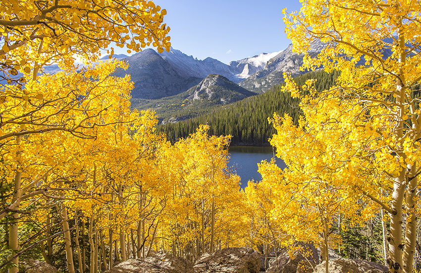 The best fall foliage vacation to take is to Estes Park in Colorado