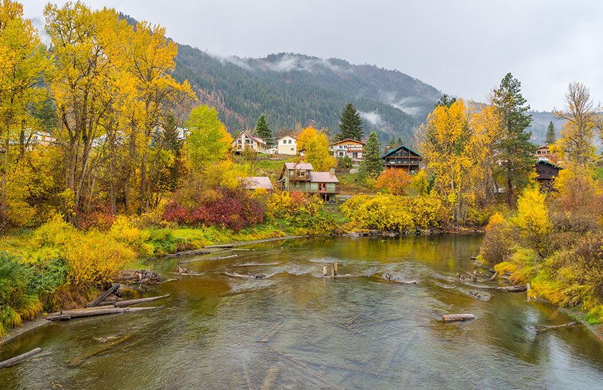 The top small town fall vacation is Leavenworth, Washington
