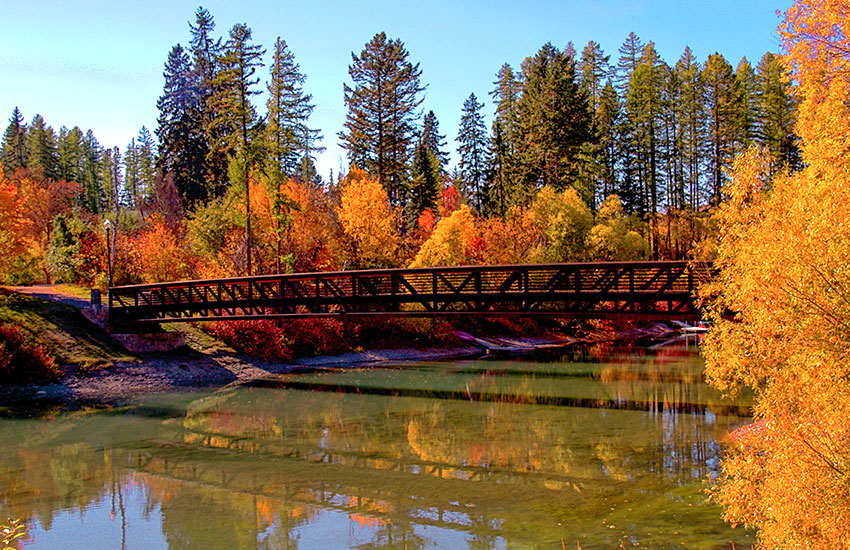 Favorite fall travel vacation to visit is Whitefish in Montana