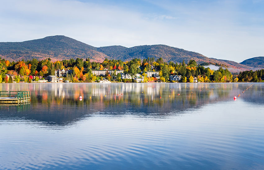The top small town fall trip to take is to  Lake Placid in New York