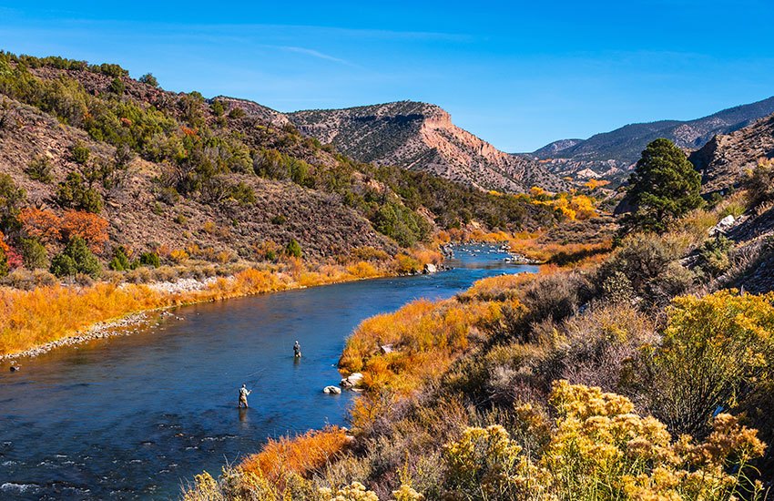 The best place where to travel in the fall is Taos, New Mexico